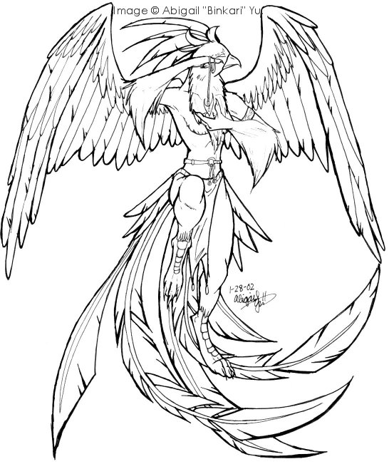 coloring pages of phoenix - photo#25