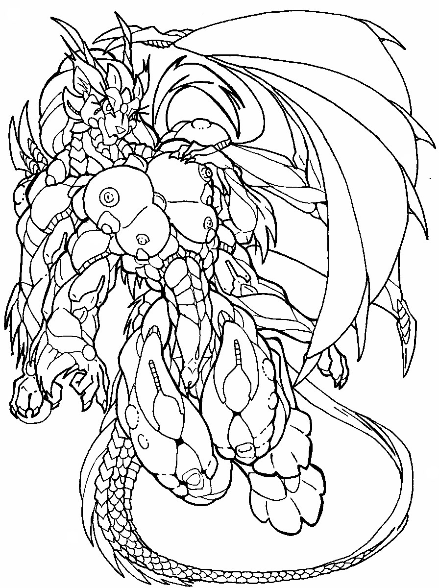 demon dragon coloring pages - photo#26
