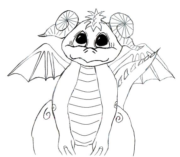 demon dragon coloring pages - photo#49