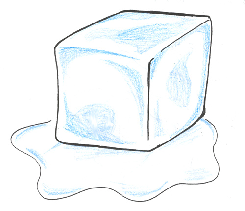 Ice cubes colouring pages
