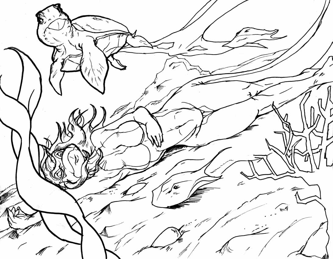 ocean bottom coloring pages - photo #28