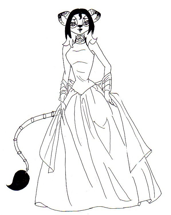 Fancy Dress Pages Coloring Pages