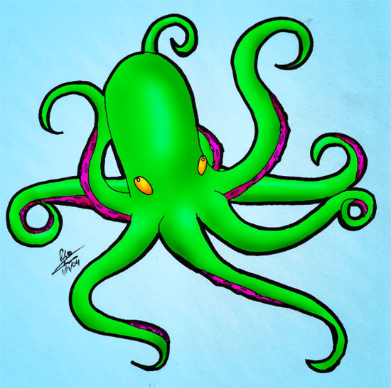 Evil octopus cartoon - photo#2