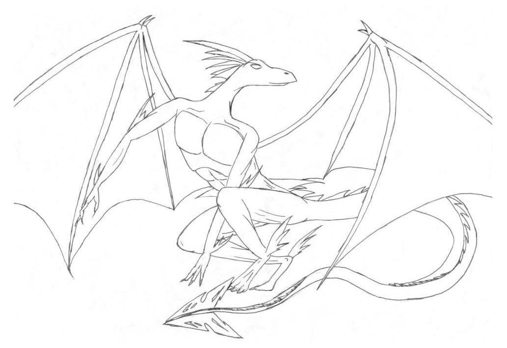 Free coloring pages of the ice dragon