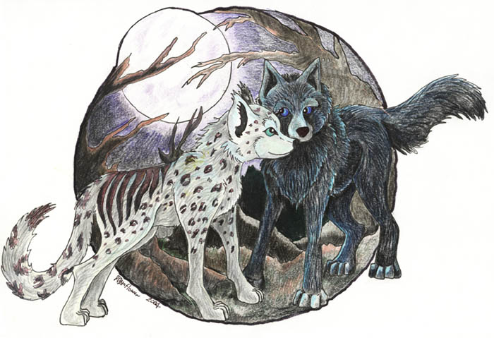 Wolf and leopard